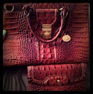 Brahmin Purse and vintage wallet